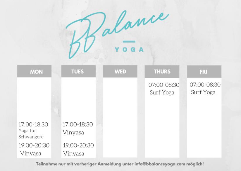 Class Schedule(1)